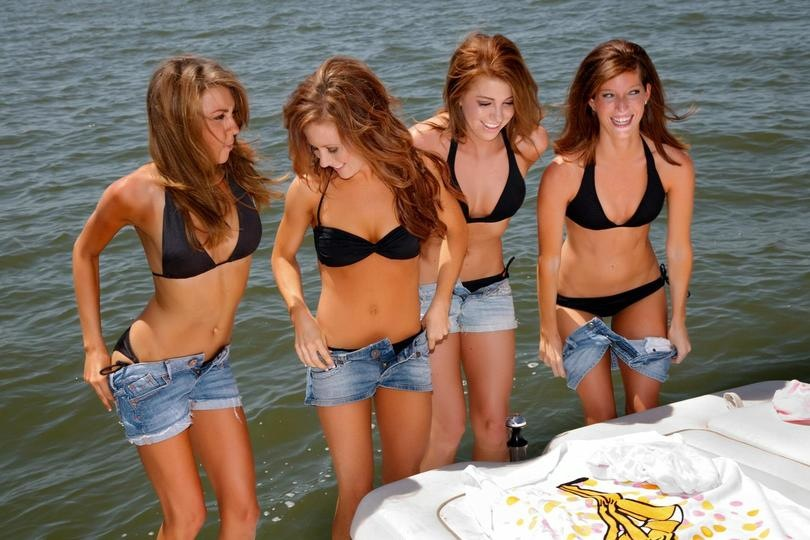 Ice Girls Lake Boat